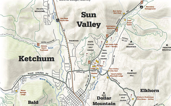 Pioneer Mountains Idaho Map.Maps Guides Sun Valley